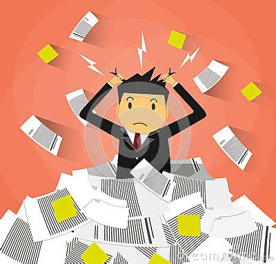 affaires de bureau homme d 39 affaires dans la pile des papiers de bureau