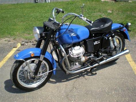 Custom Blue Vintage Moto Guzzi Ambassador