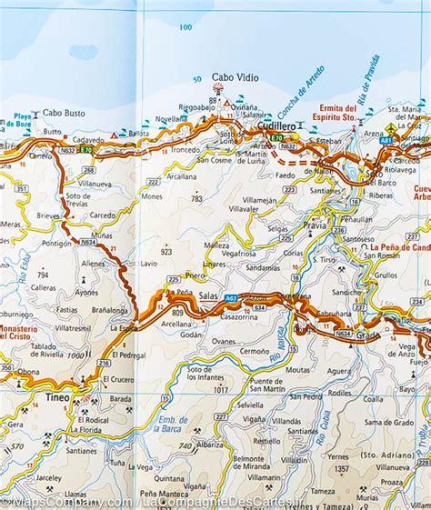Cote Atlantique Espagne Carte by Carte Routi 232 Re Du Nord De L Espagne Chemin De St Jacques