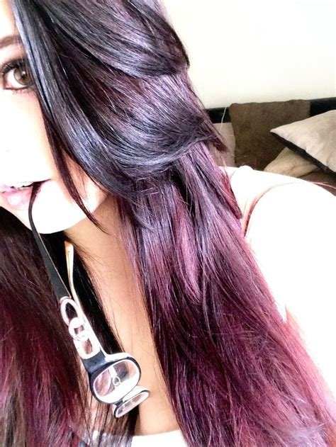Images For Brown Hair With Purple Highlights Underneath