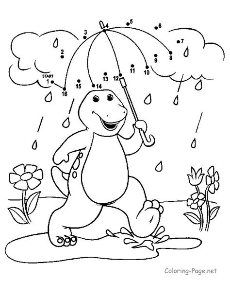 umbrella connect dots coloring pages connect the dots dino and umbrella dot to dot activities the o jays and