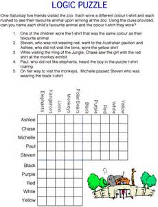 Logic Puzzles For Kids Printable With Grids images