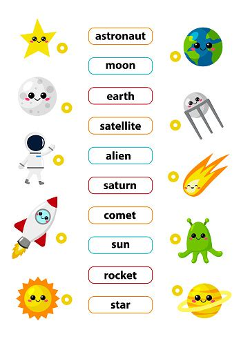 match words   correct pictures learn english words