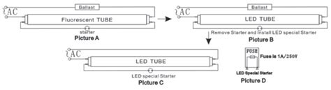Philip Led T8 Wiring Diagram by Led T8 Light