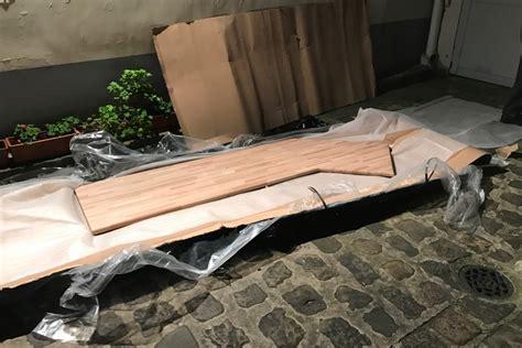 plan de travail en chne plan de travail cuisine bois massif plan de travail stratifi gris mat l315 x p65 cm