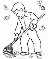 Coloring Pages Leaves Raking Tree Leaf Rake Drawing Colouring Kid Raisingourkids Animal Functions Exponential Linear Comparing Fall Crafts Cute Sweep sketch template