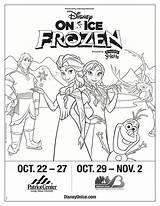 Disney Coloring Frozen Ice Tickets Pack Presents Win Teachablemommy sketch template