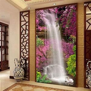 Waterfall Swan Photo wallpaper Custom 3D Wallpaper Natural ...