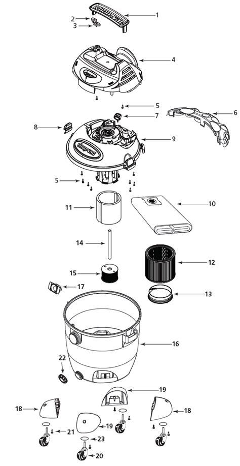 Shop Vac Ltpa Vacuum Parts Repair Schematics