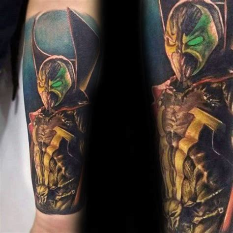 spawn tattoo designs  men antihero ink ideas