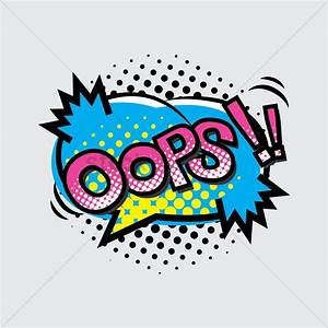 Oops text with comic effect Vector Image - 1823050 ...