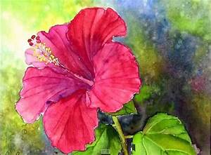 How to paint a Red Hibiscus Flower In Watercolor P1: https ...