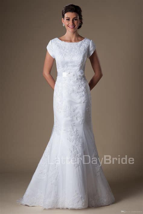 Ärmellose brautkleider bieten überlegene arten mit eleganz und anmut. Großhandel Meerjungfrau Modest Brautkleider Mit Ärmeln ...