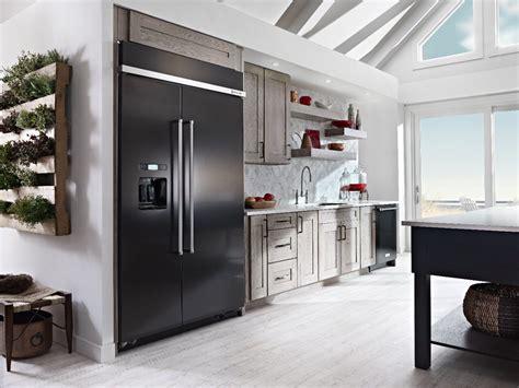 black stainless steel refrigerators kitchenaid