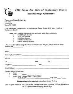 agreement letter  event sponsorship sample agreement