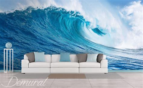 sea wave living room wallpaper mural photo wallpapers