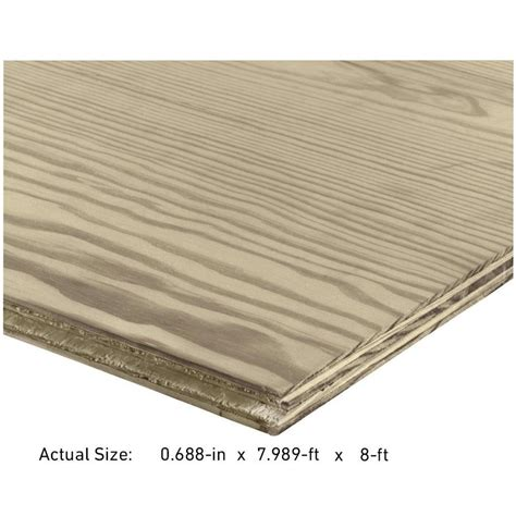 lowes underlayment plywood shop 23 32 cat ps1 09 tongue and groove pressure treated douglas fir plywood underlayment