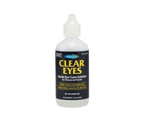sterile solution ponies 4oz horses clear eyes eye care