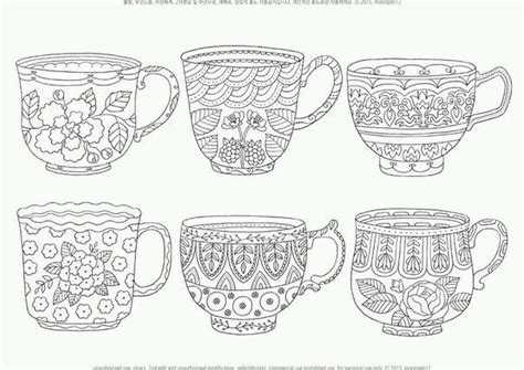 127 Best Tea And Coffee Coloring Pages Images On Pinterest