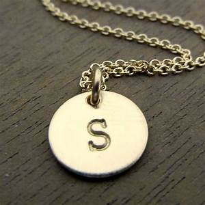 little initial necklace gold letter charm personalized With little letter necklace