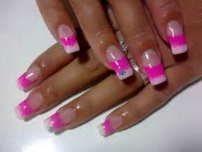 Nail designs pink fall design art simple