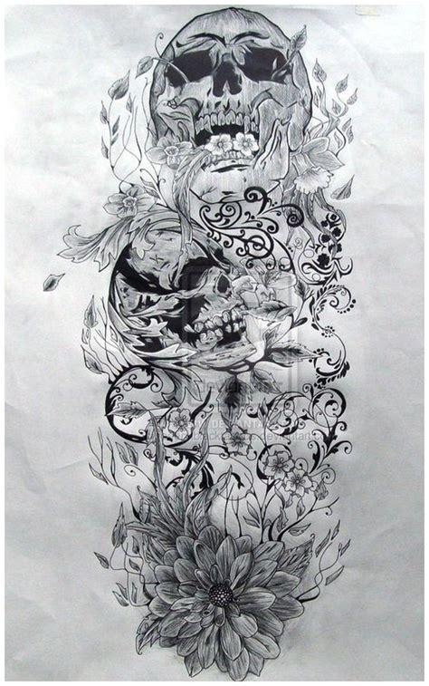 Skull Sleeve Tattoos Skulls Pinterest