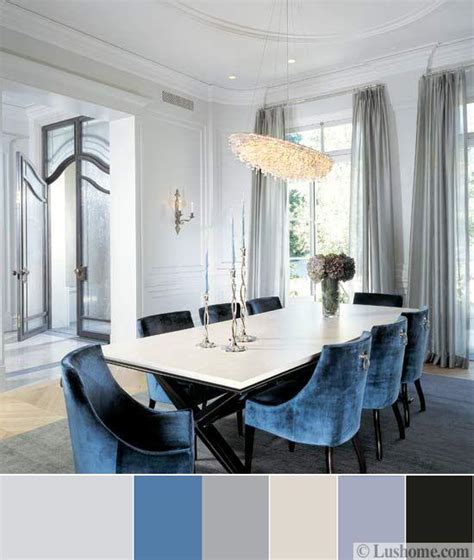 blue color schemes  interior design inspiring