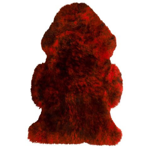 Springbok Rug by Red With Black Tips Merino Sheepskin Rug Hides Of Excellence