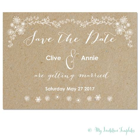 free save the date templates whimsical wedding save the date template