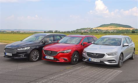 Ford Opel by Insignia Sports Tourer Mondeo Turnier Mazda6 Test