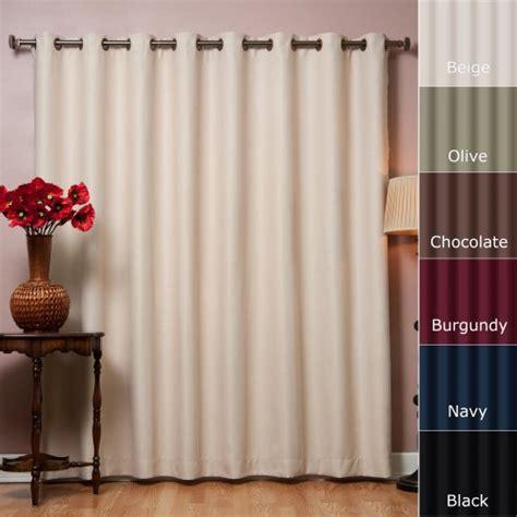 wide width grommet top thermal blackout curtain 100 quot w x 84
