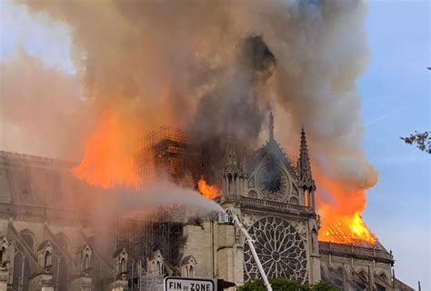 notre dame cathedral fire today centuries  history
