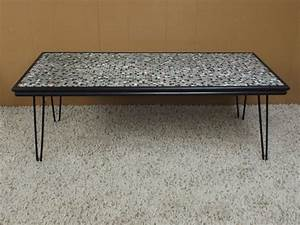 Mosaic tile hairpin leg coffee table tables pinterest for Design coffee table legs with modern style