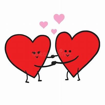 Cartoon Valentine Template Illustration Vector Greeting Clipart