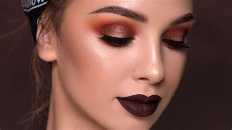 Fall Makeup Tutorial Bold Vampy Glam Youtube