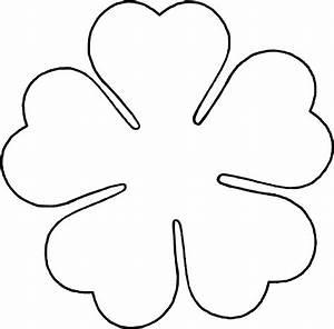 flower petal shape template clipart best With flower template 5 petals