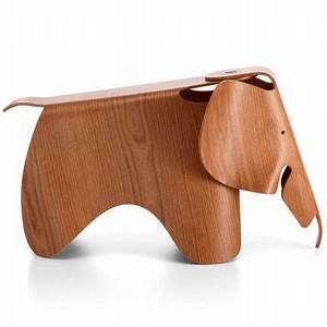 "Eames® Original 31"" Elephant in Plywood in American Cherry"