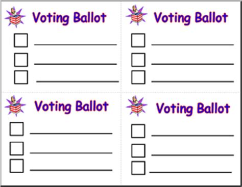 Form Ballot For Mock Election Abcteach