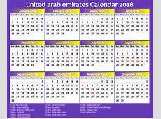 Holiday Calendar 2019 with UAE Holidays 2019 Printable