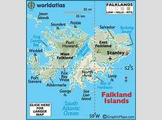 Falkland Islands Map Geography of Falkland Islands Map