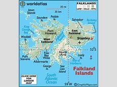 Falkland Islands Map Geography of Falkland Islands Map