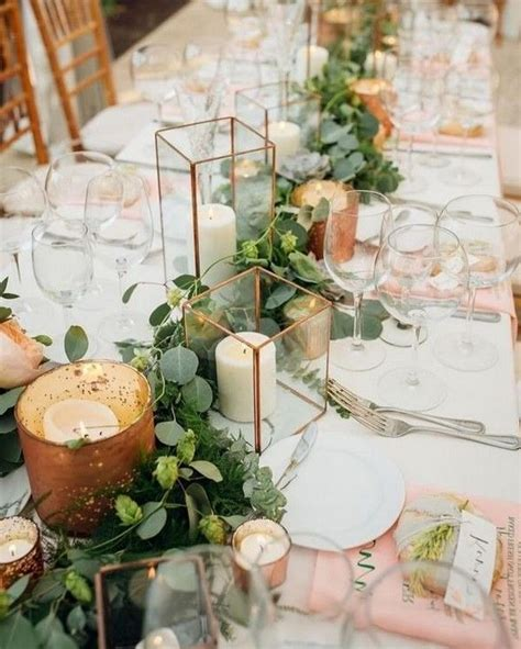 20 Greenery Wedding Centerpieces You ll Love Candle