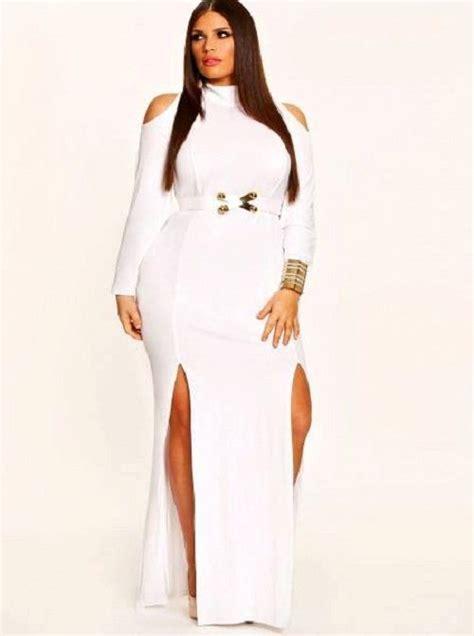 white  size dresses   plussize curvy