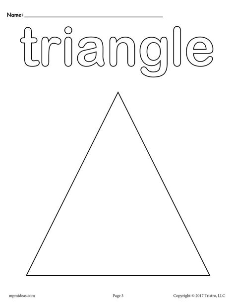 8 triangle worksheets tracing coloring pages cutting 402 | Shapes coloring pages triangle 1024x1024