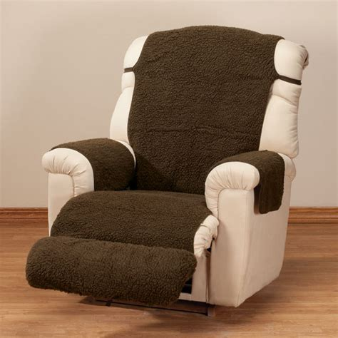 sherpa recliner cover by oakridge comforts