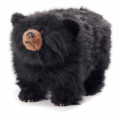shadow shaggy plush black bear foot stool
