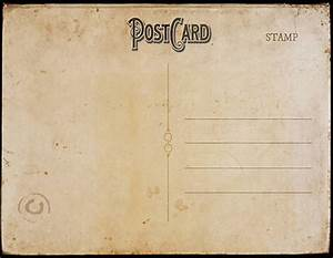 vintage postcard template back 2 | Postcard template, Free ...