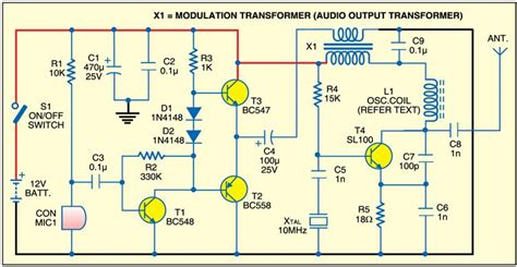 Crystal Transmitter Detailed Circuit Diagram Available
