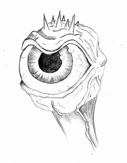 Evil Drawing Drawings Demon Eye Demons Pencil