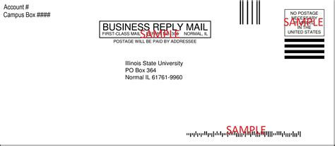 Usps Business Reply Mail Template by And Sport Pre Paid Envelope